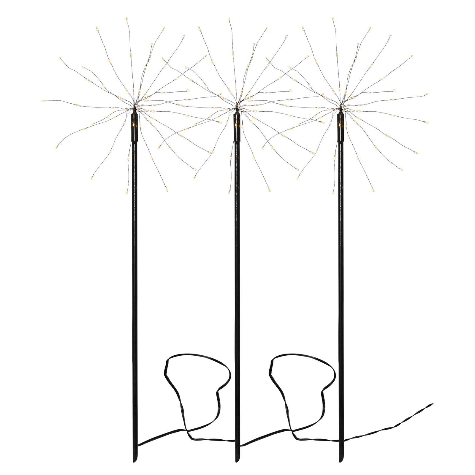 Firework Outdoor-LED-valaisin, 3 kpl