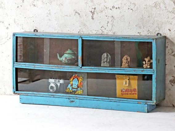 Blue Display Cabinet Blue