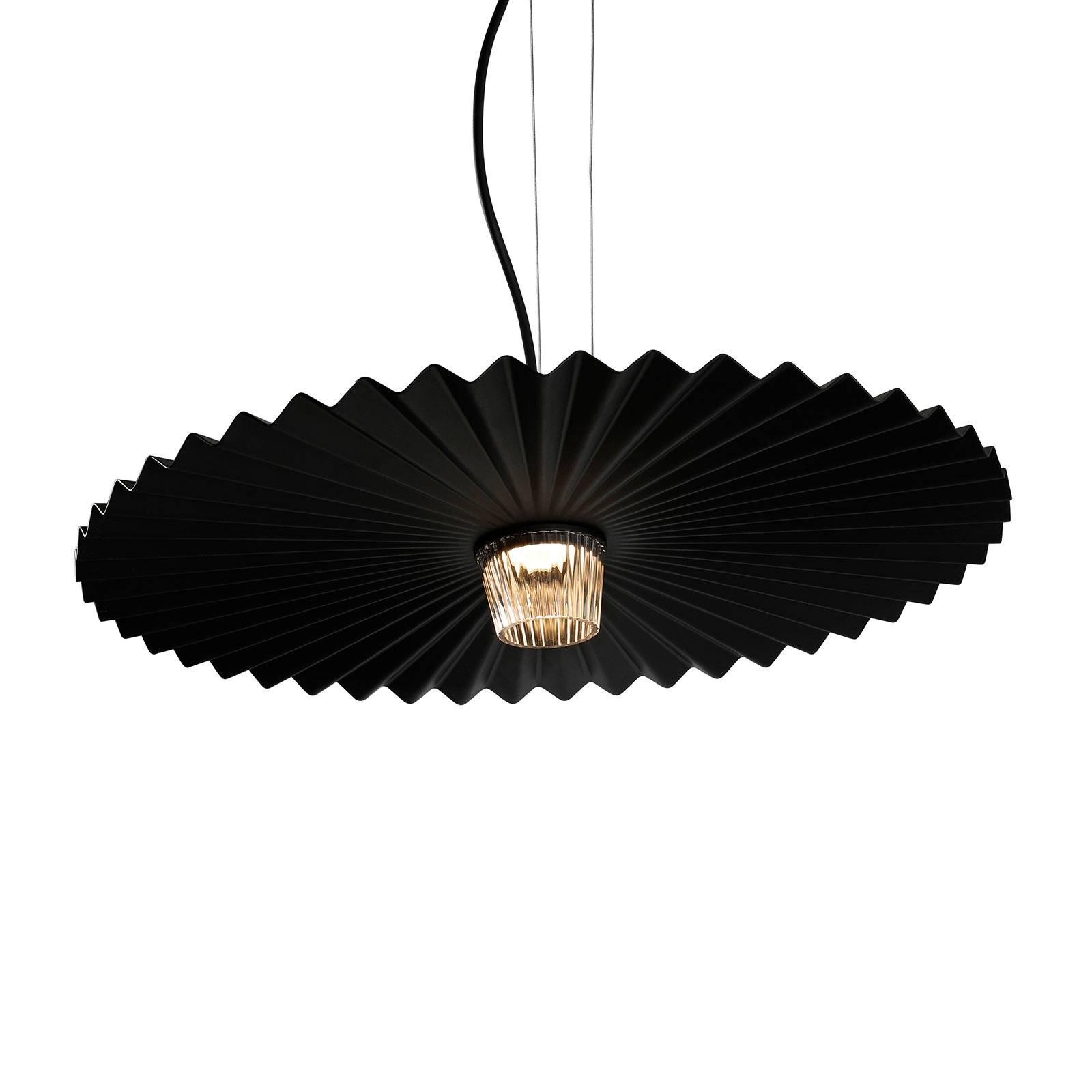 Karman Gonzaga -LED-riippuvalaisin Ø 59 cm musta