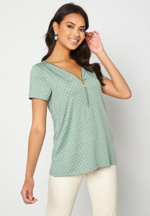Happy Holly Carrie top Light mint / Offwhite 32/34