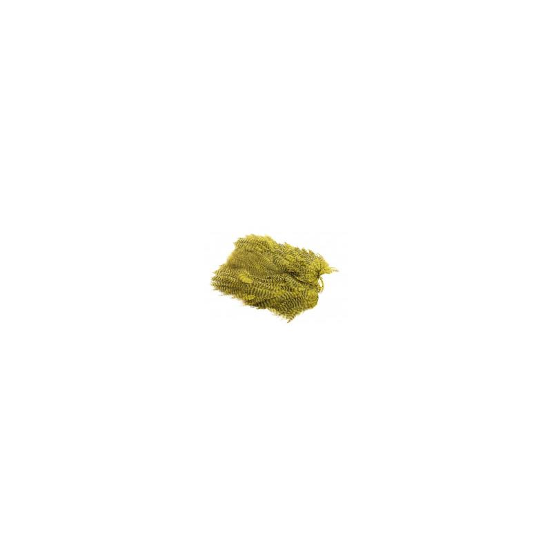 Softhackle patch Grizzly Olive
