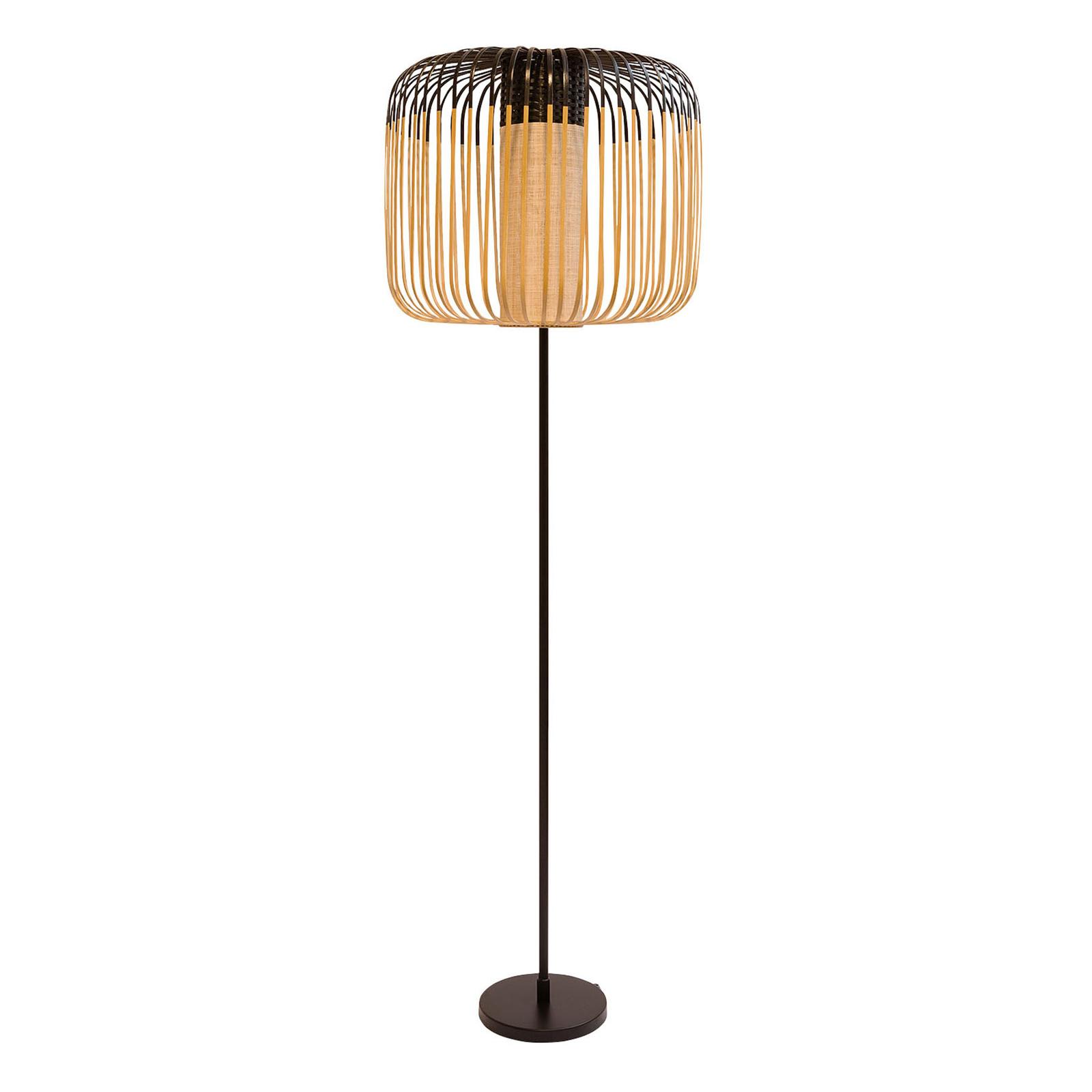Forestier Bamboo Light -lattiavalo 1-lamp. musta