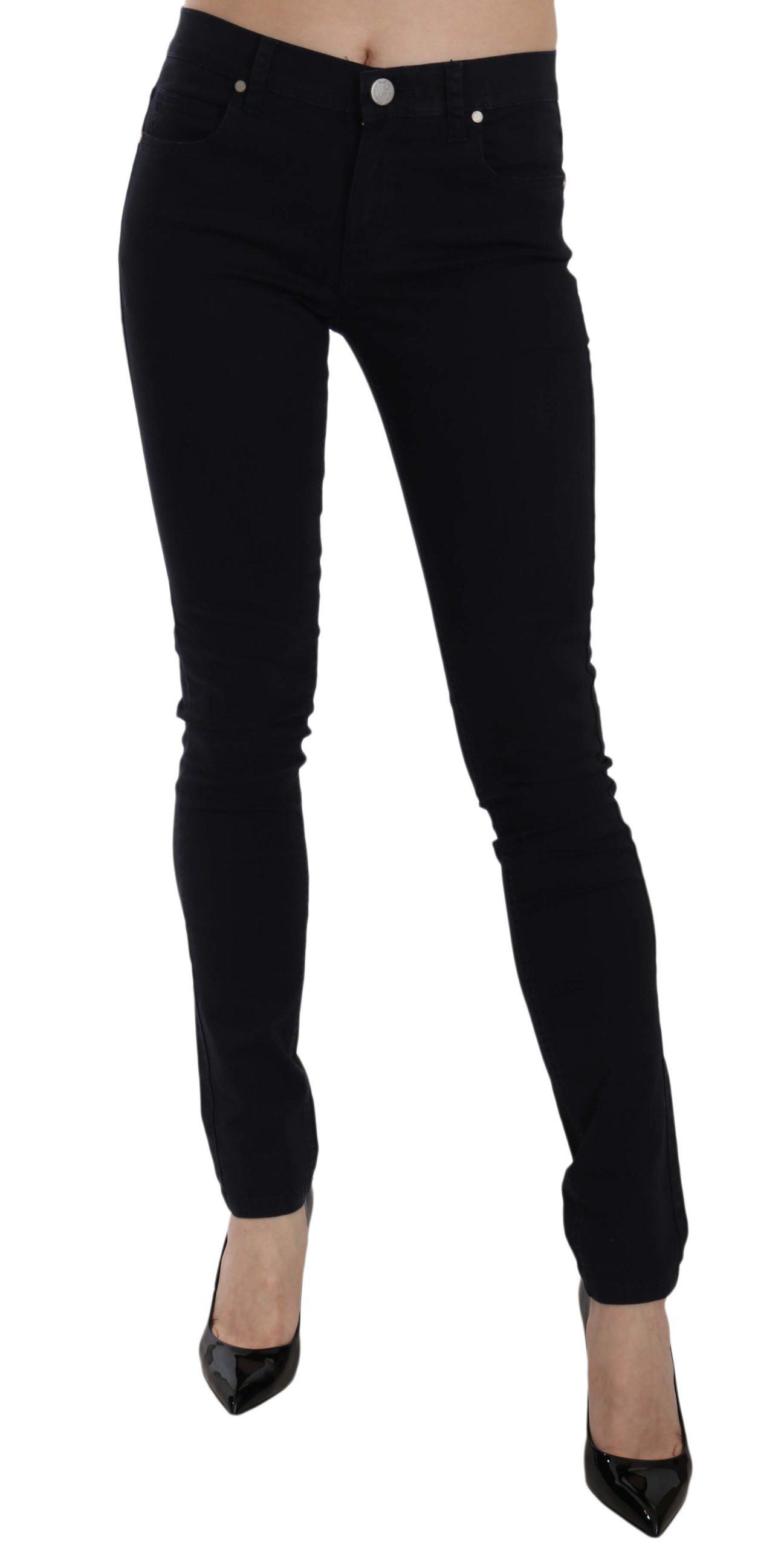 Versace Jeans Women's Gabardine Stretch Luxor Slim Trouser Blue PAN61006 - W30