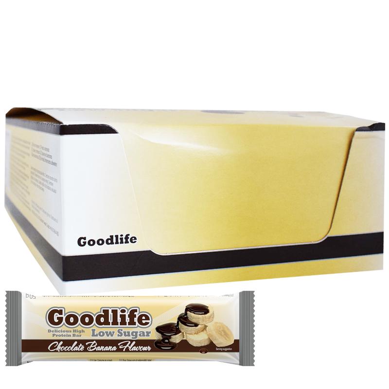 """Hel Låda Proteinbars """"Chocolate Banana"""" 15 x 50g - 32% rabatt"""