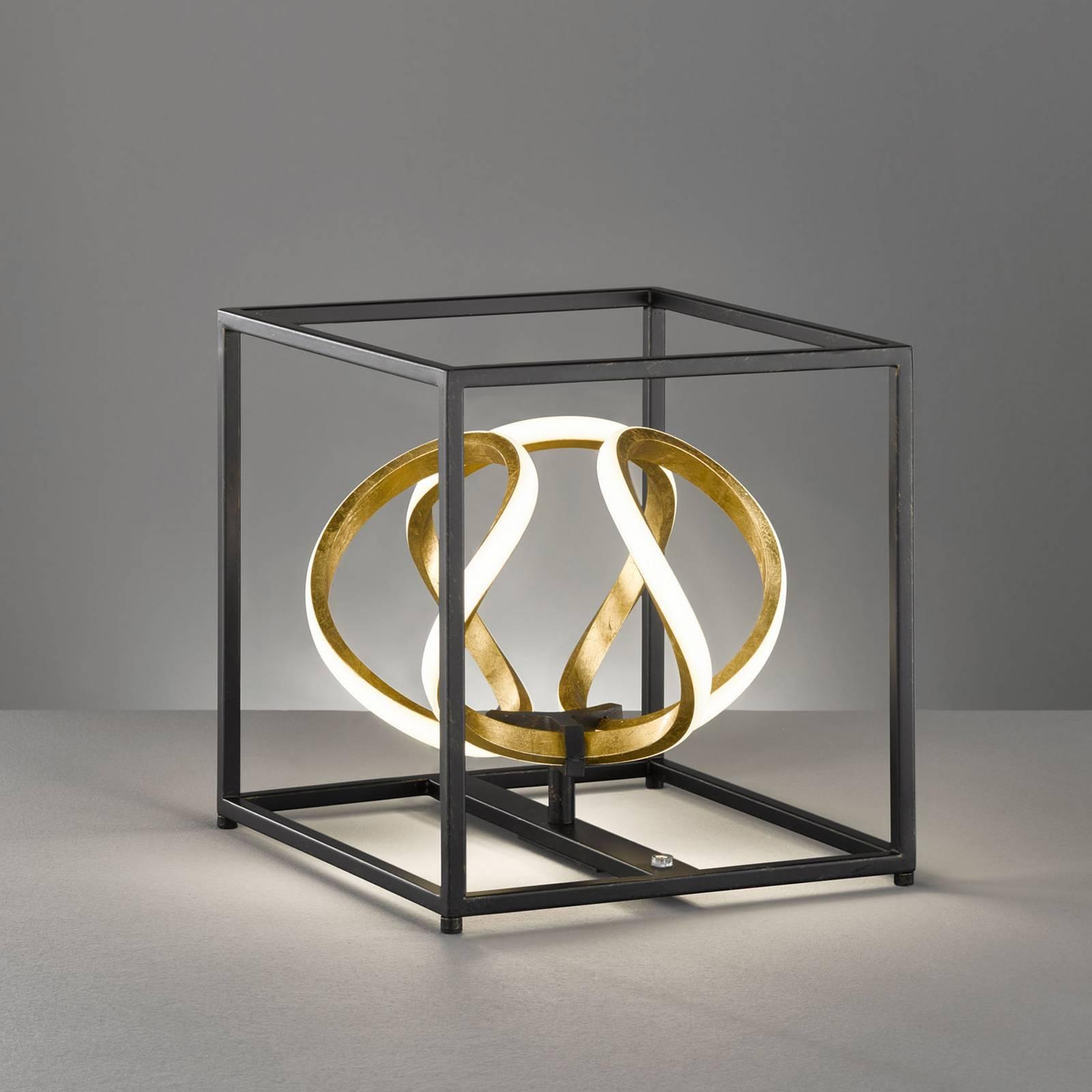 LED-pöytälamppu Gesa, musta ja kulta
