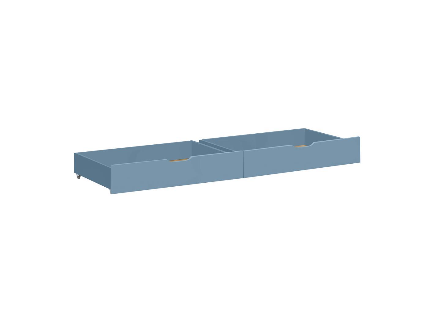 Hoppekids - IDA-MARIE Bed Drawer on Wheel 2 pcs - Dusted Blue