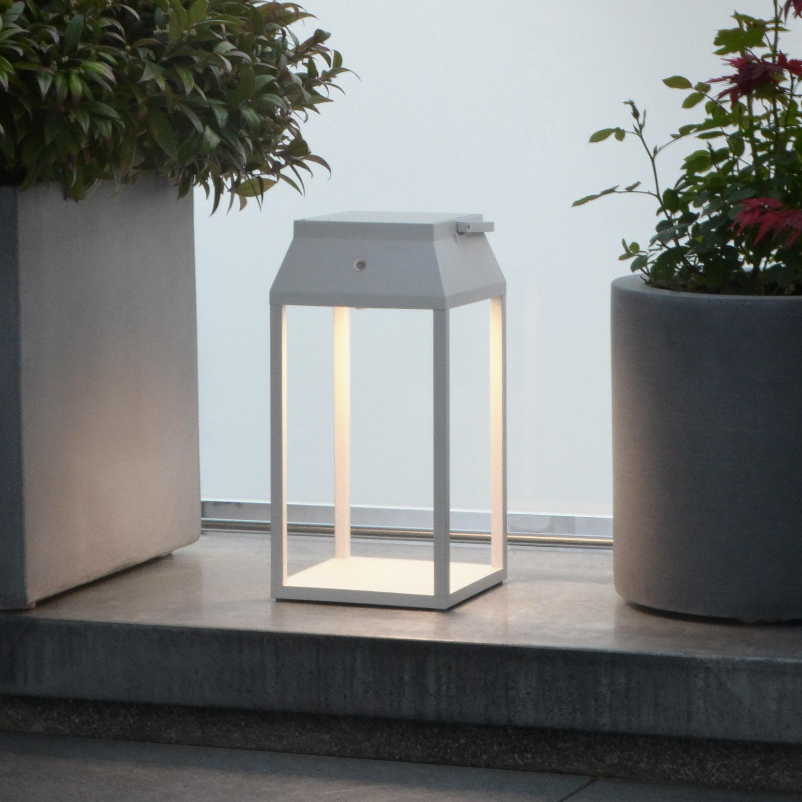Aurinkokäyttöinen LED-lyhty Louis, valkoinen