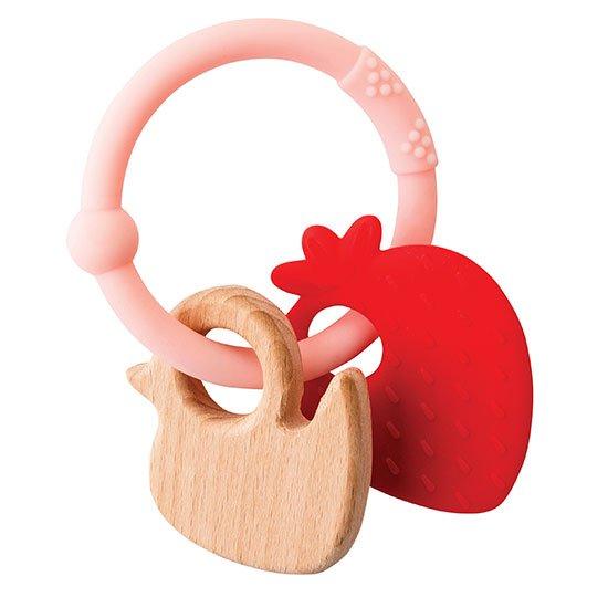 Nattou - Lapidou Teething Toys - Strawberry
