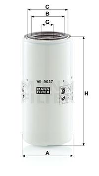 Polttoainesuodatin MANN-FILTER WK 9037 x