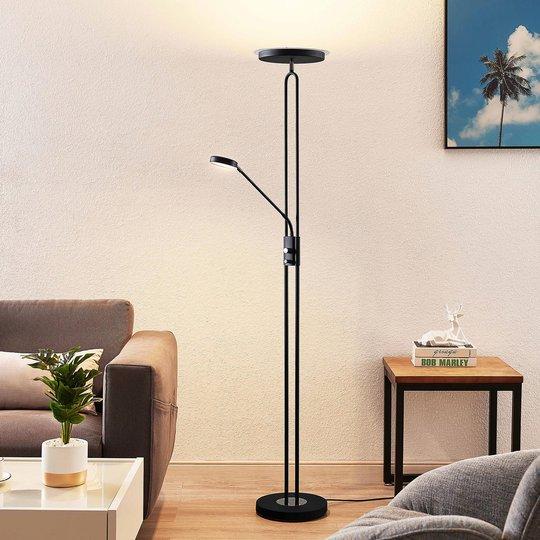 Lindby Twina -LED-lattiavalo, musta