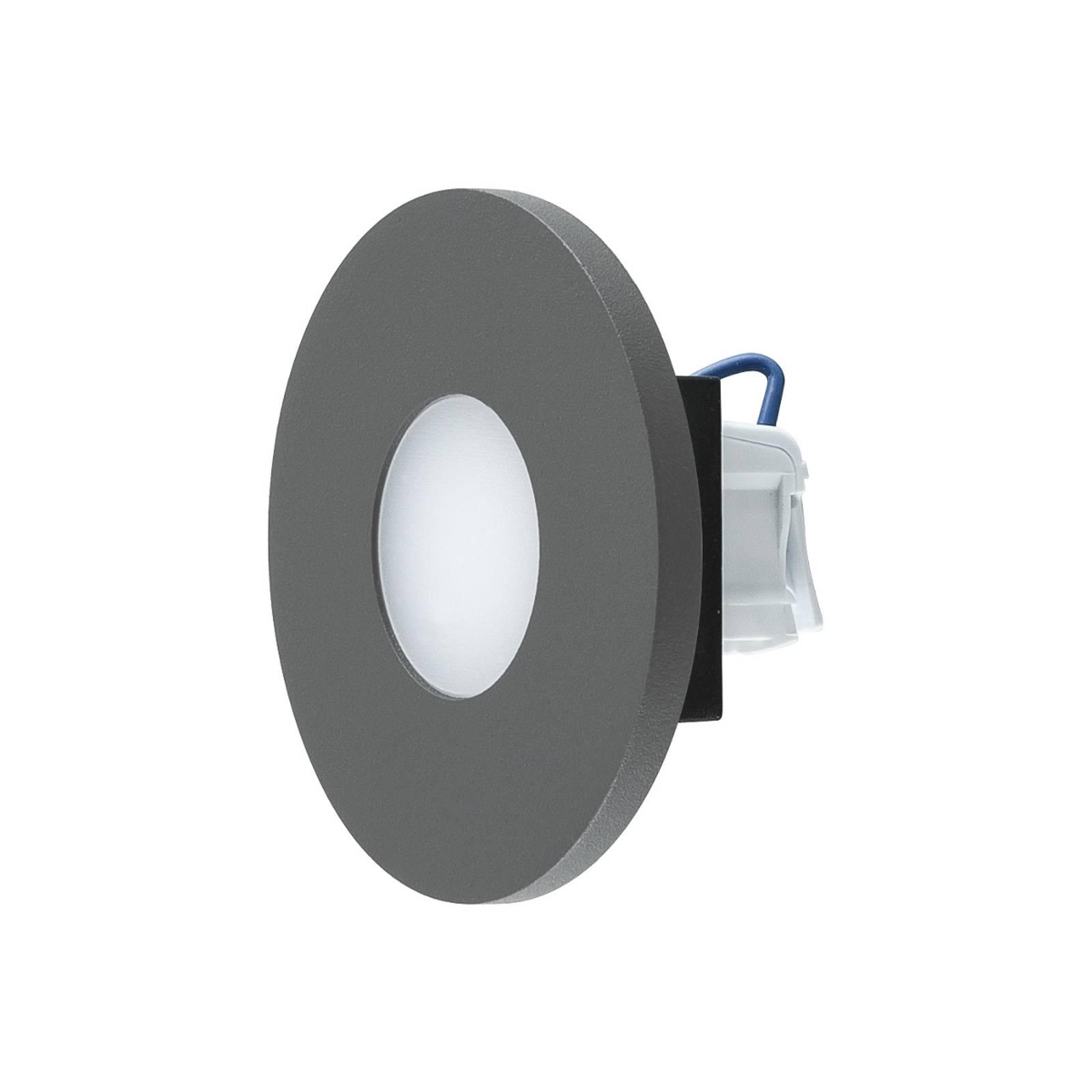 EVN LR230 -LED-seinäuppovalaisin, antrasiitti