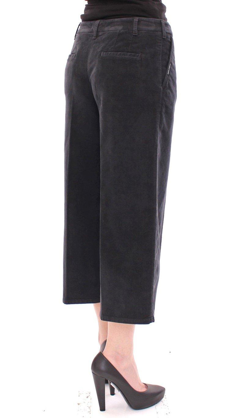 Dolce & Gabbana Women's Cotton Corduroys Cropped Trouser Blue GSS10052 - IT40|S