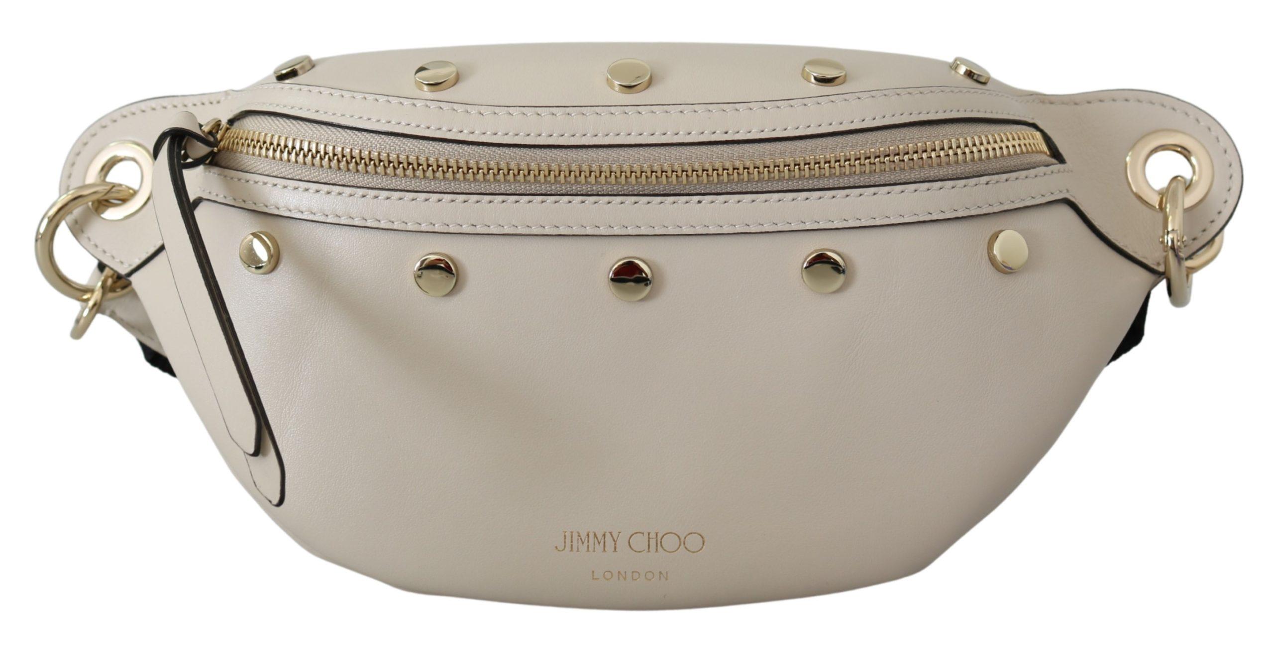 Jimmy Choo Women's Lockett Lamb Belt Bag Cream 1436320