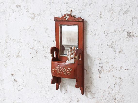 Ornate Wall Mirror Brown