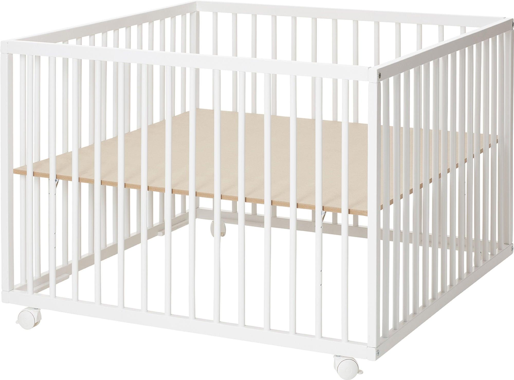 BabyDan Comfort Leikkikehä 99x99x73 cm, Valkoinen