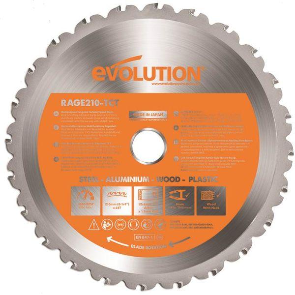 Evolution EVR210S Sahanterä 210x25,4mm, 24T
