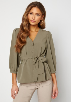 Happy Holly Suzanne blouse Dusty green 44/46