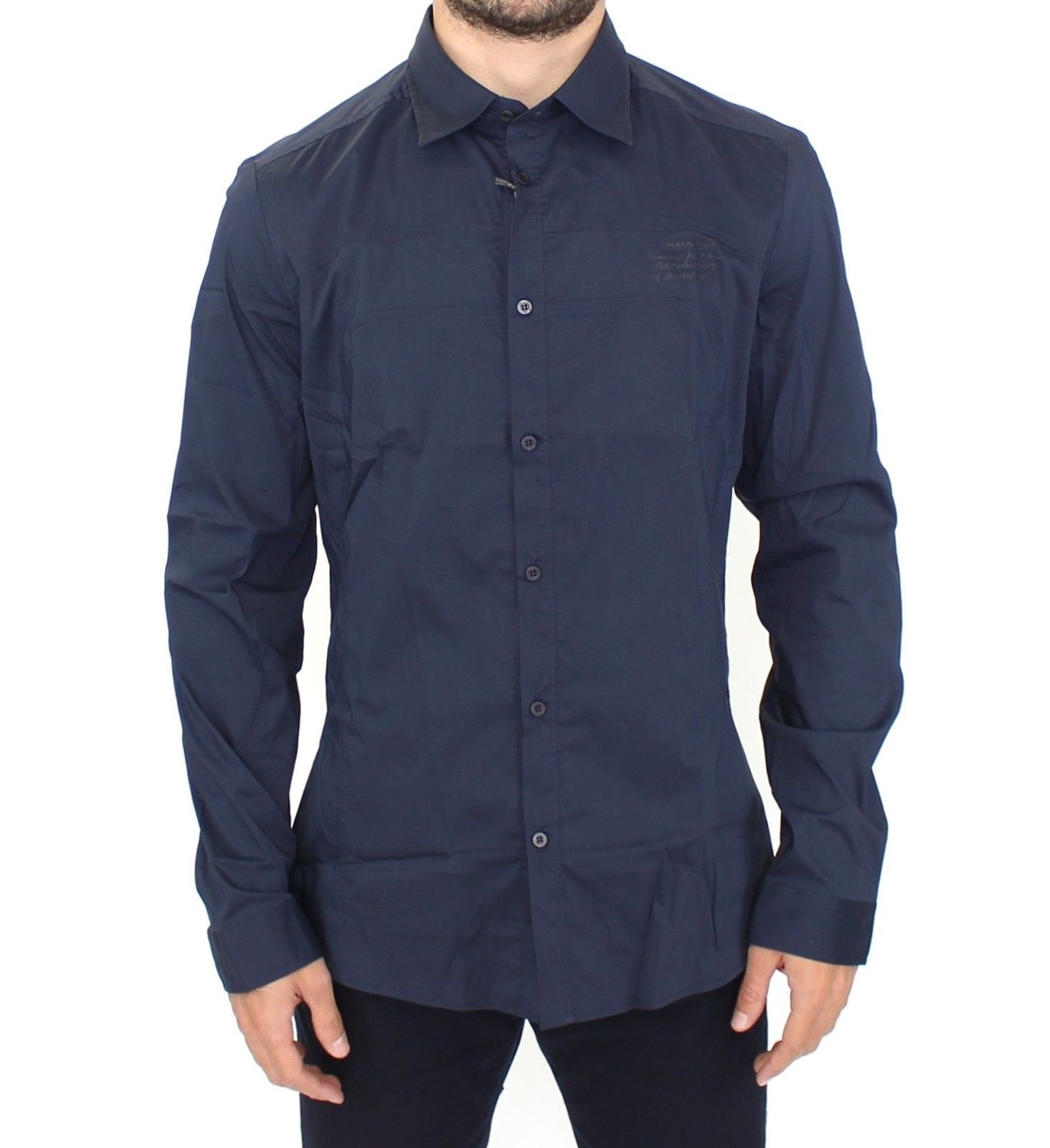 Ermanno Scervino Men's LS Shirt Blue SIG10136 - IT52 | XL