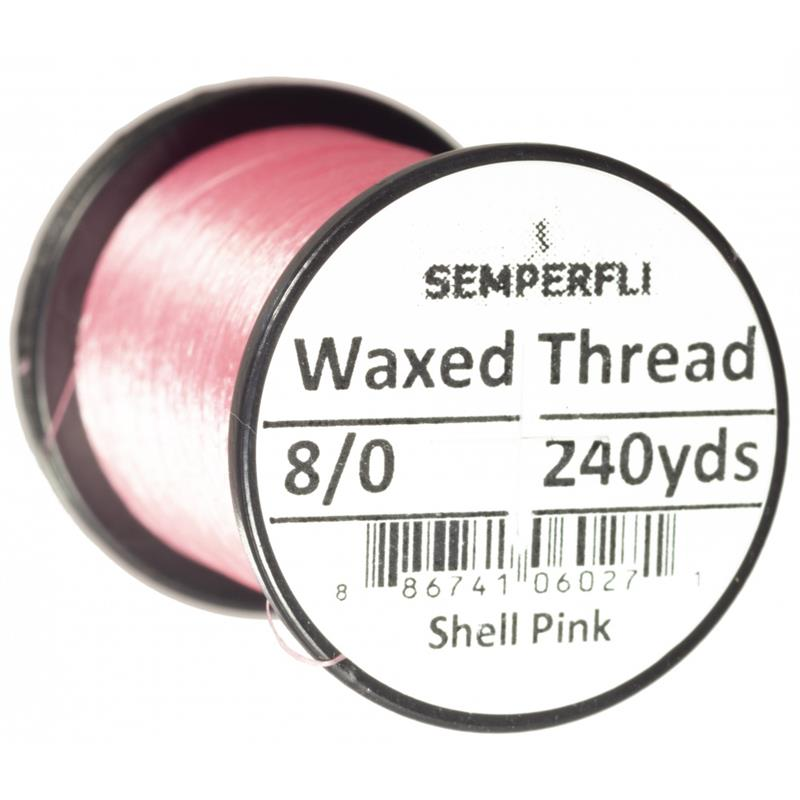 Semperfli Classic Waxed Thread Shell pink 8/0