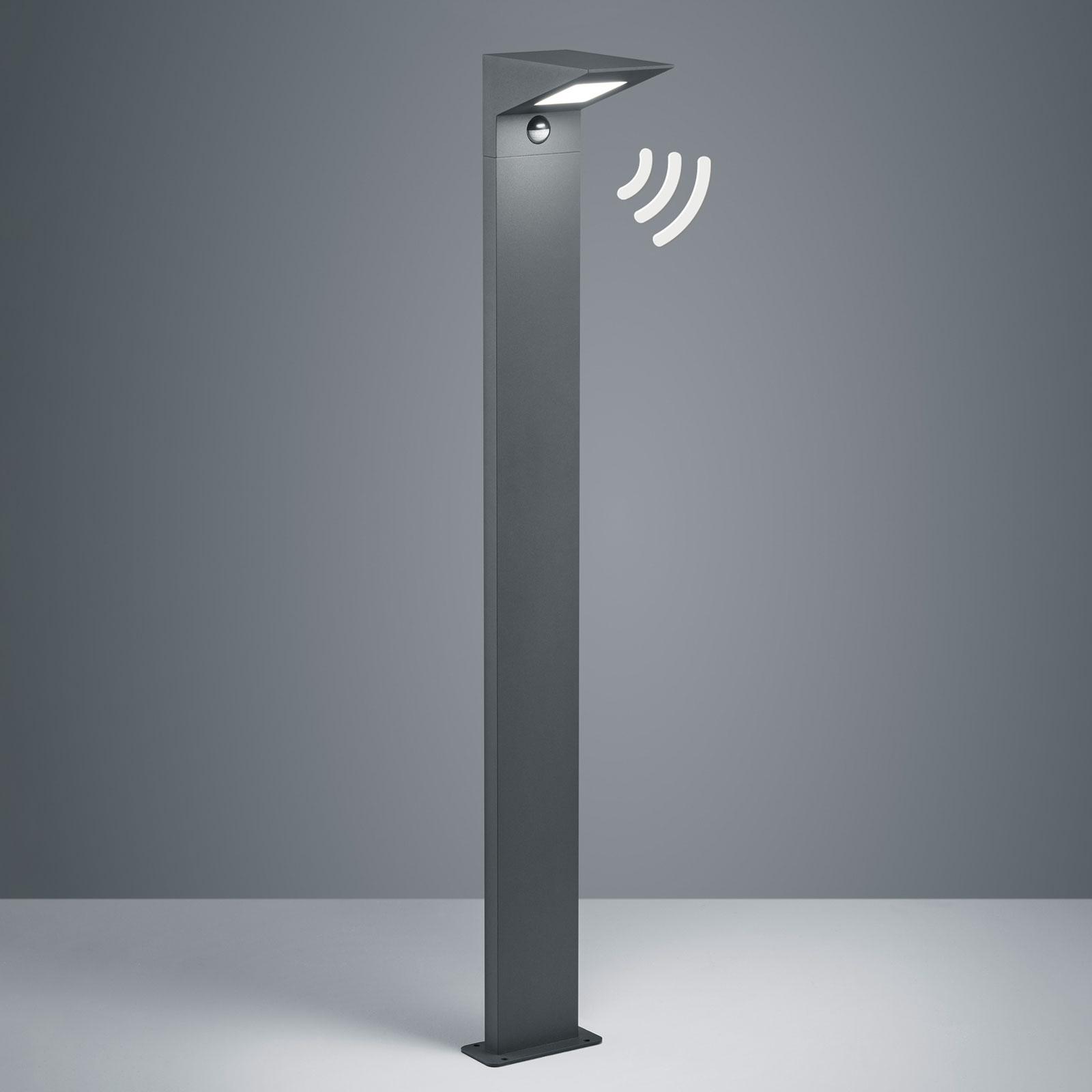 LED-pylväsvalaisin Nelson, 100 cm, tunnistin