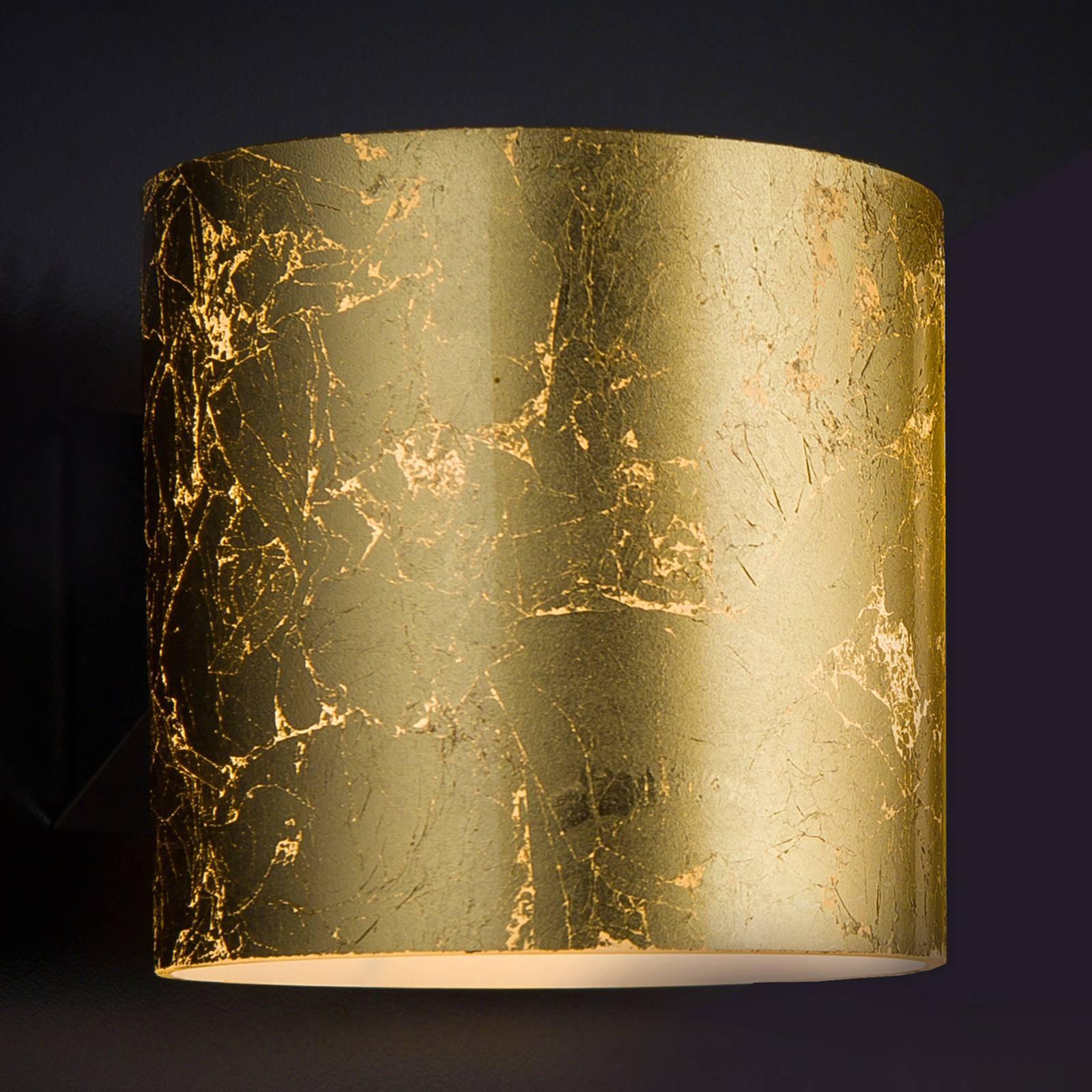 Kultainen designseinävalaisin Brick yksilamppuinen