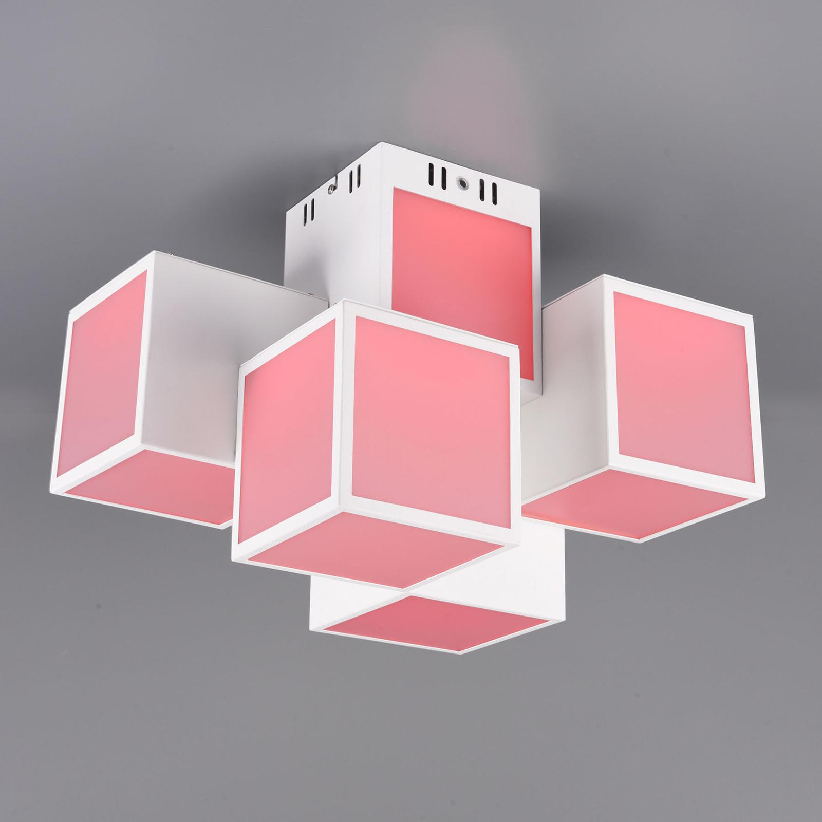 Trio WiZ Oscar LED-kattovalo 45x30cm, valkoinen