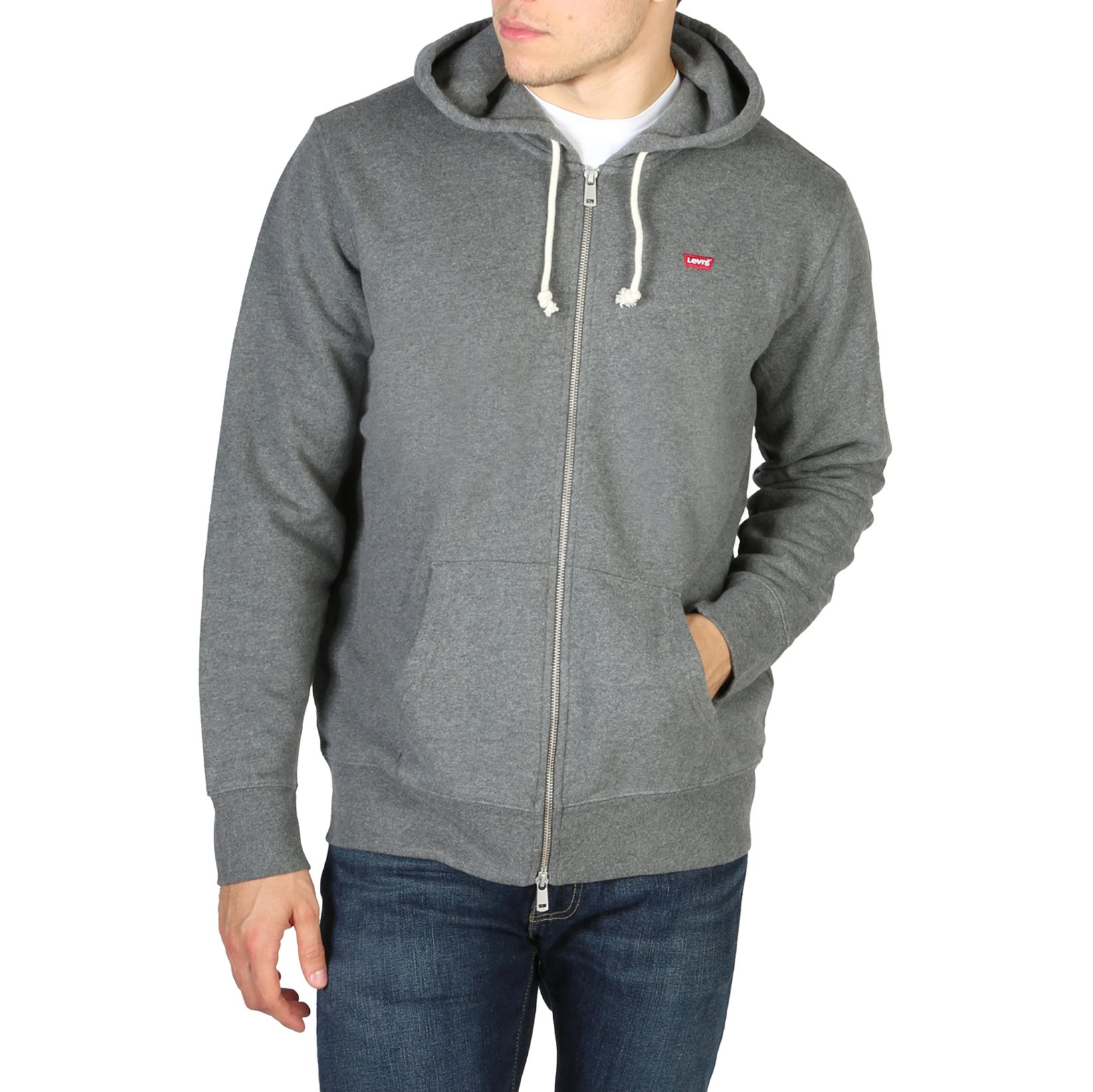 Levis Men's Sweatshirt Blue 34584_NEW-ORIGINAL - grey S