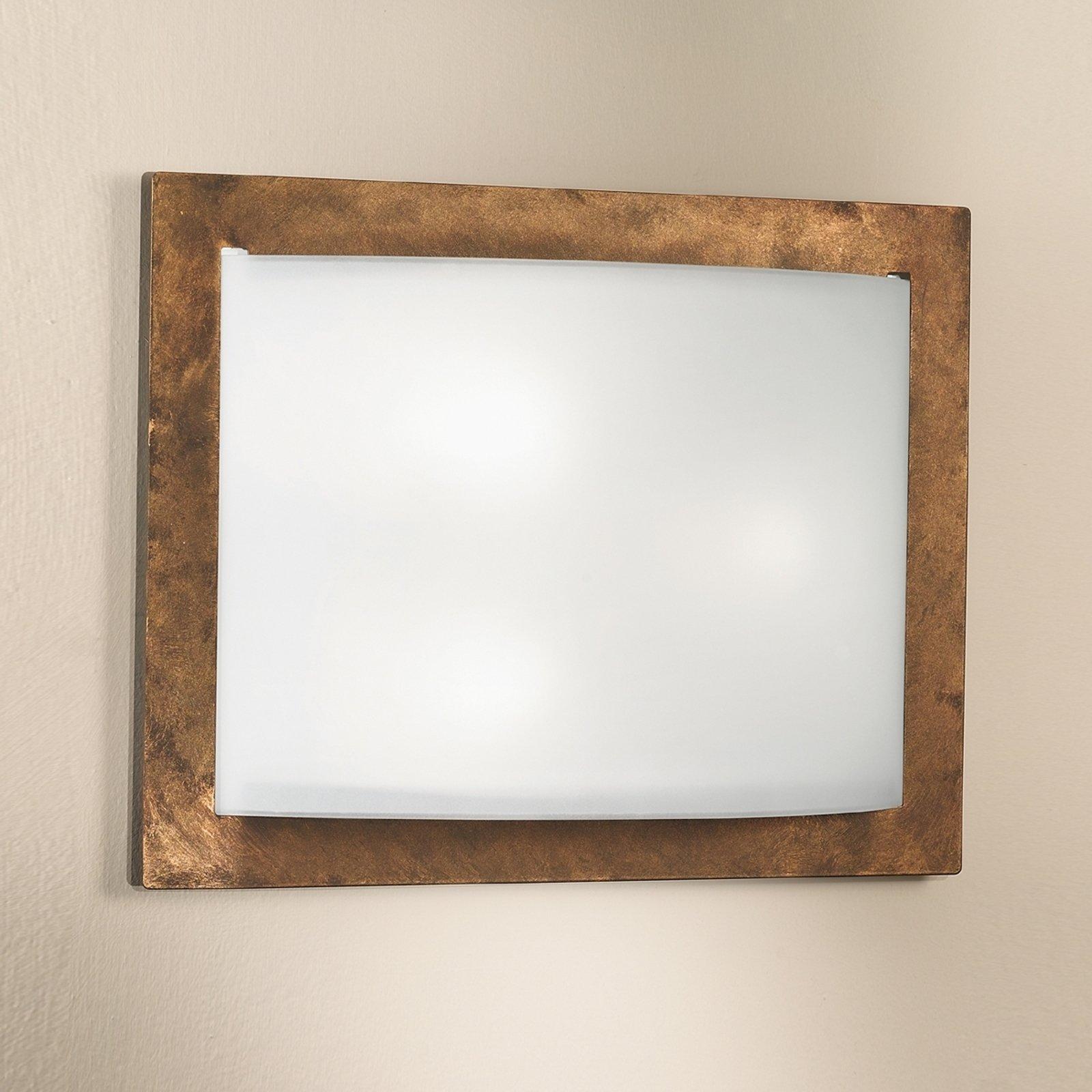 Vegglampe Metwally, rust, 37 x 49 cm