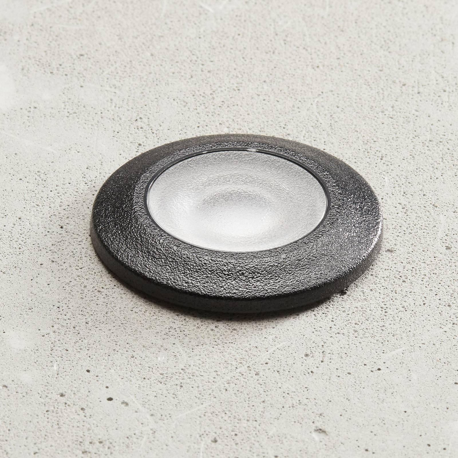 LED-innfellingslampe Aldo rund svart/klar 3 000 K