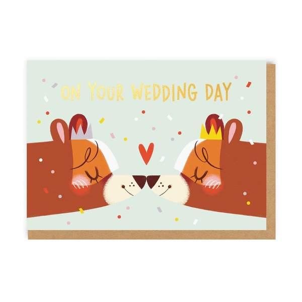 Lady Wedding Bears Greeting Card