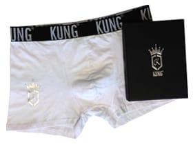 KUNG-kalsong i presentbox, vit, large