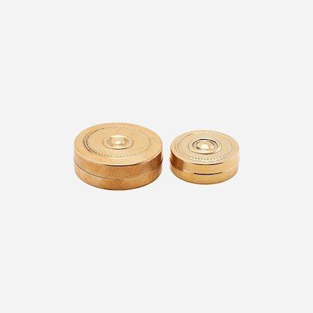 Oppbevaringskrukke Mini Messing 2 størrelser h: 2 cm