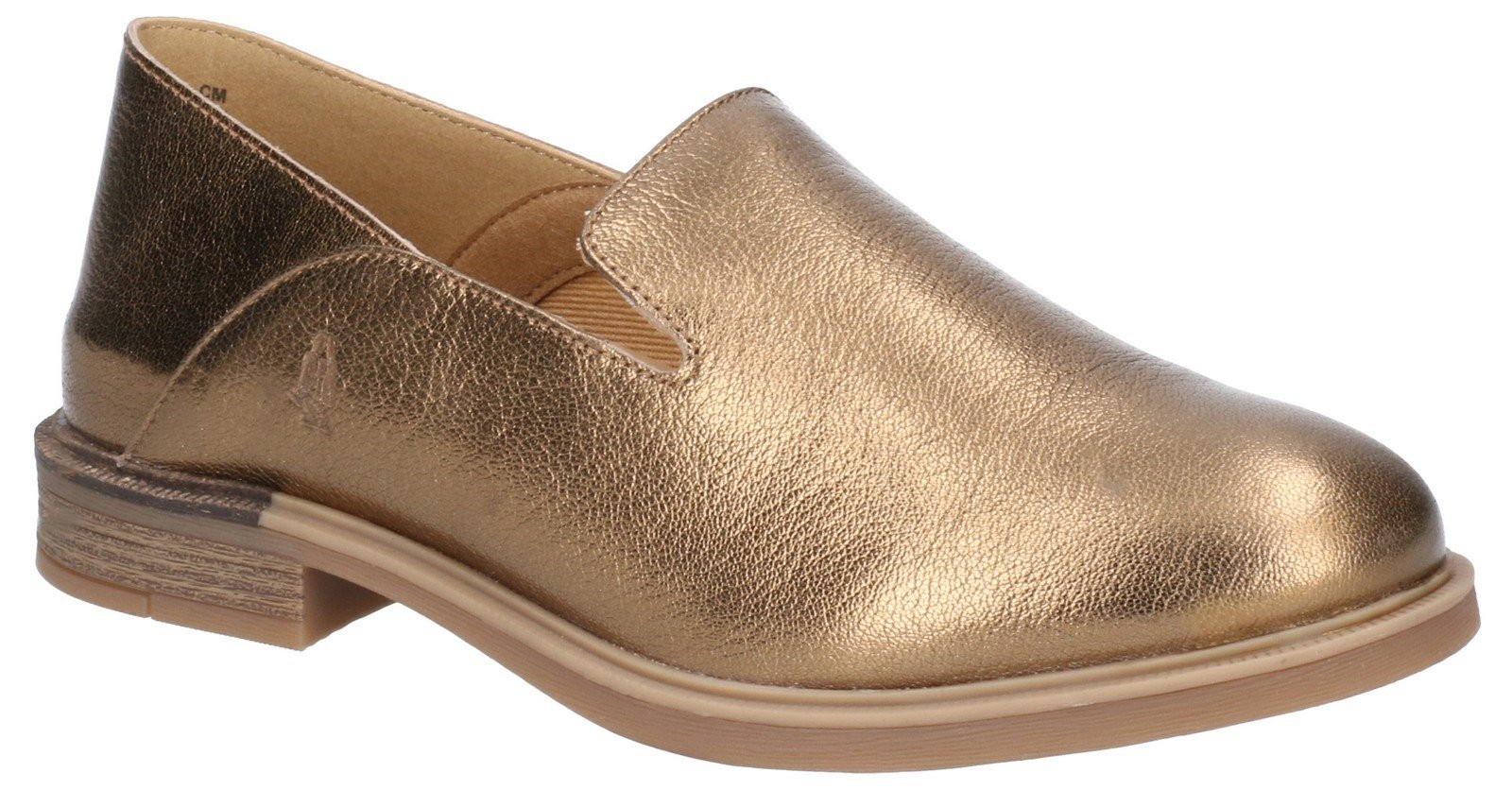 Hush Puppies Women's Bailey Bounce Slip On Flats Various Colours 29224 - Antique Gold Leather 3