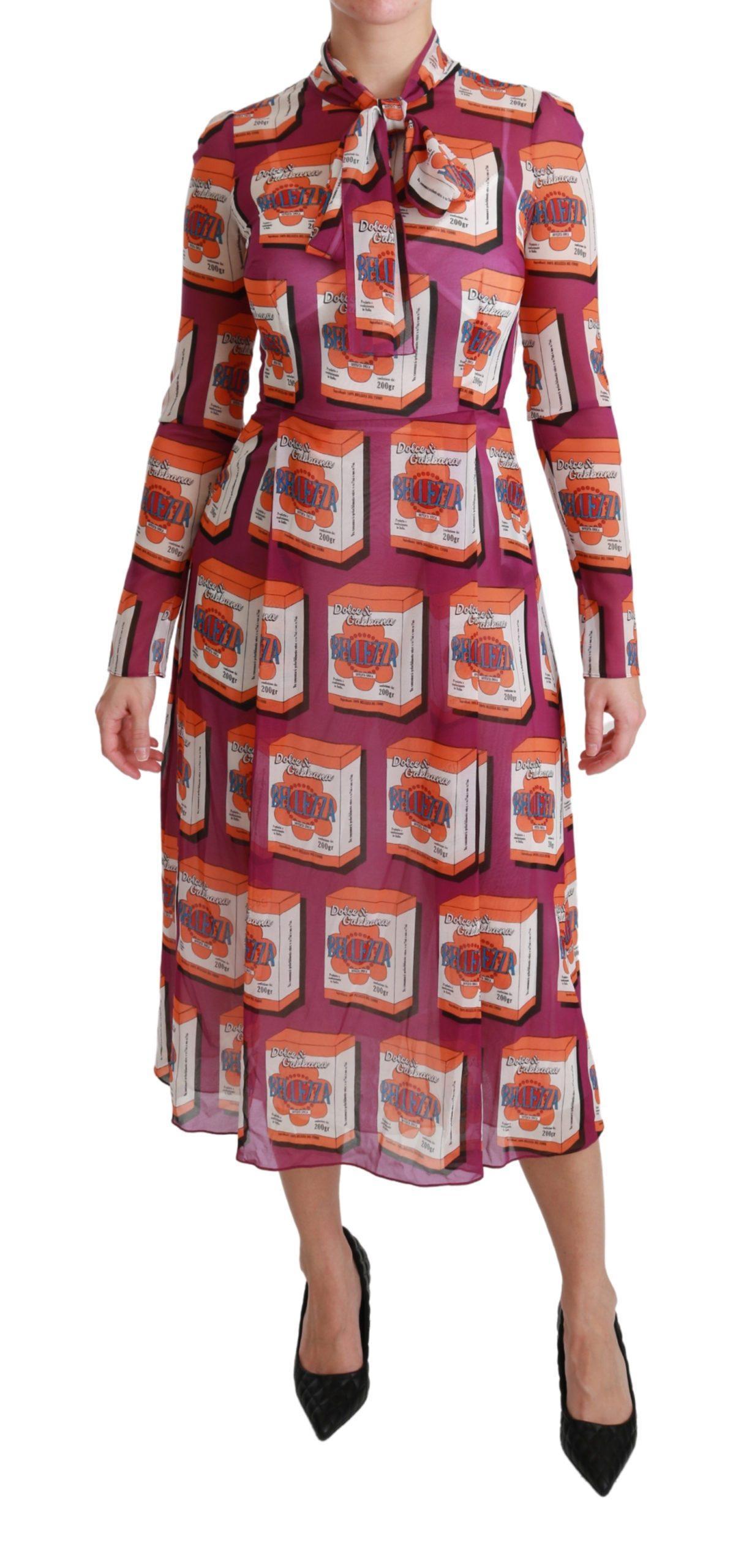 Dolce & Gabbana Women's Silk Bellezza A-Line Gown Dress Purple DR2514 - IT36   XS