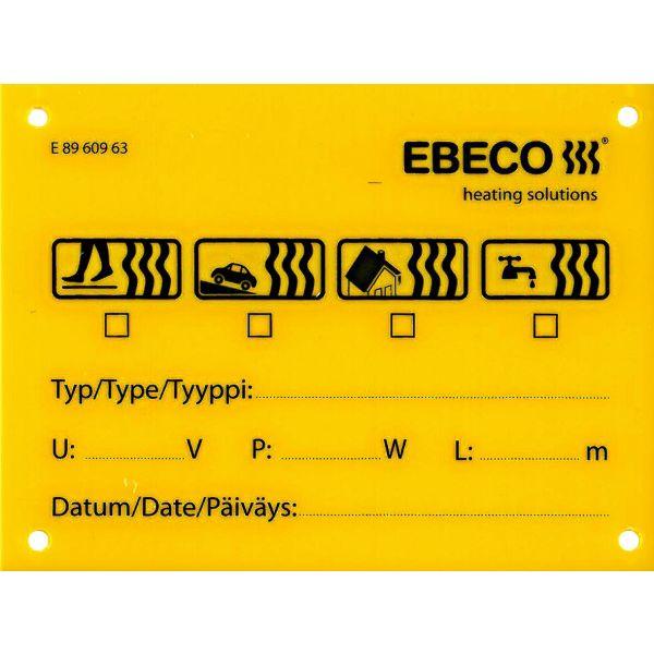 Ebeco 8960963 Skilt