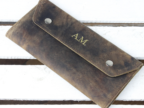 Leather Travel Wallet Large