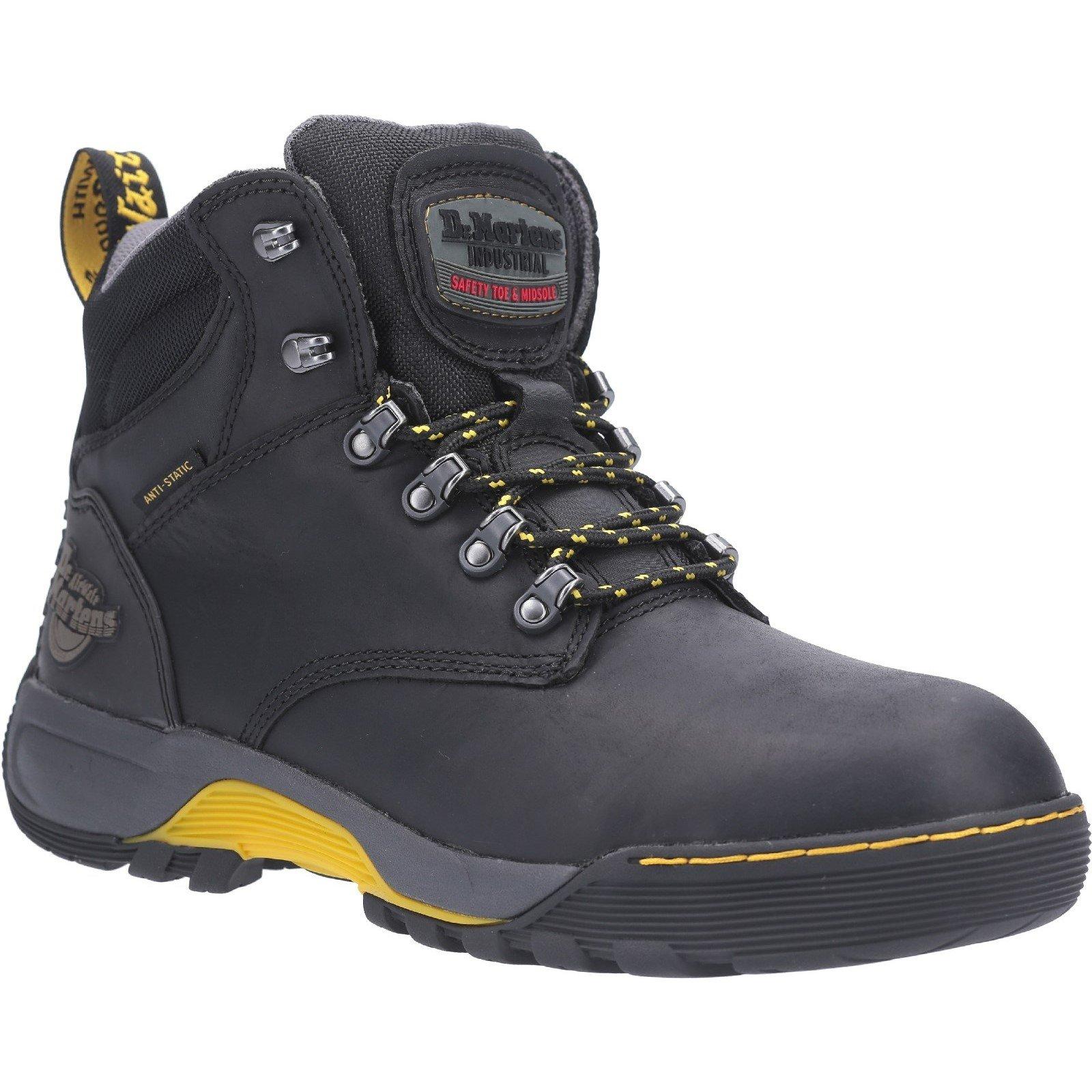 Dr Martens Unisex Ridge ST Lace Up Hiker Safety Boot Black 28324 - Black 6