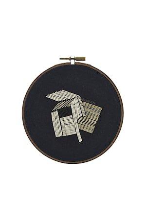 Veggdekorasjon Ø 25 cm - Beige