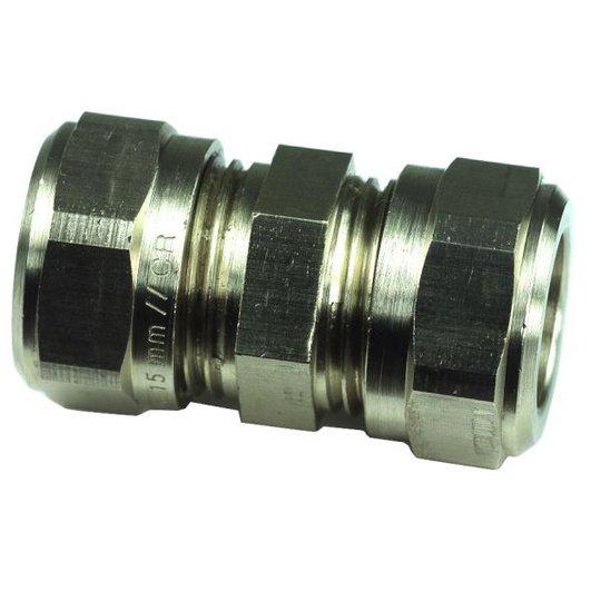 Gelia 3006111202 Kiristysrengasliitin suora, kupari-kupari, messinki 10 mm