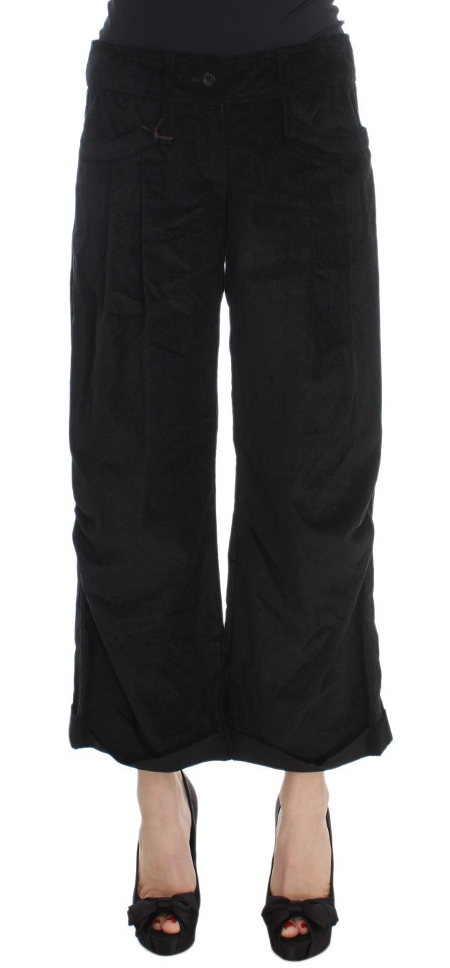 Ermanno Scervino Women's Capri Boot Cut Trouser Black SIG30396 - IT40|S