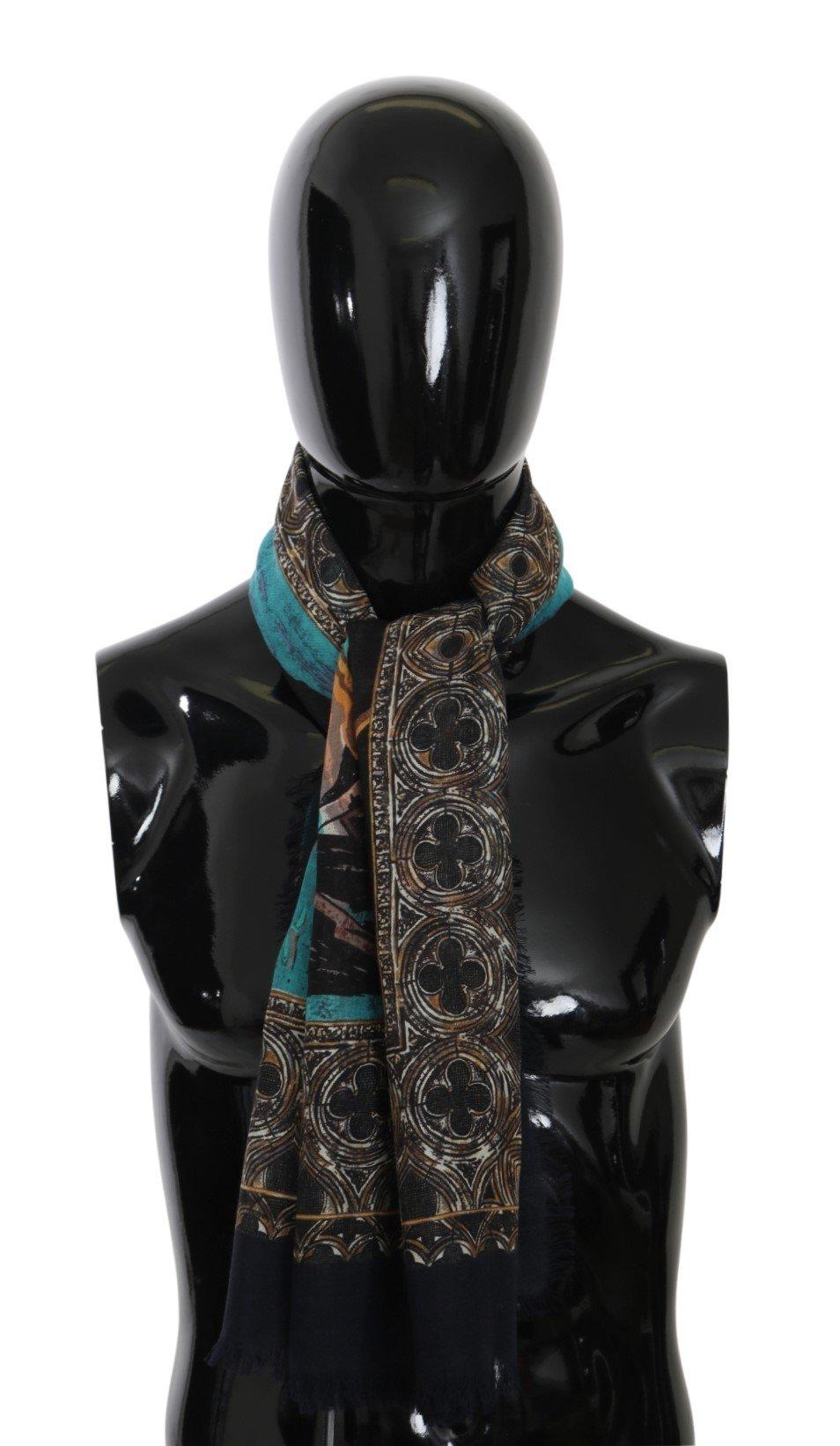 Dolce & Gabbana Men's Venice Wrap Cashmere Scarf Multicolor MS5527