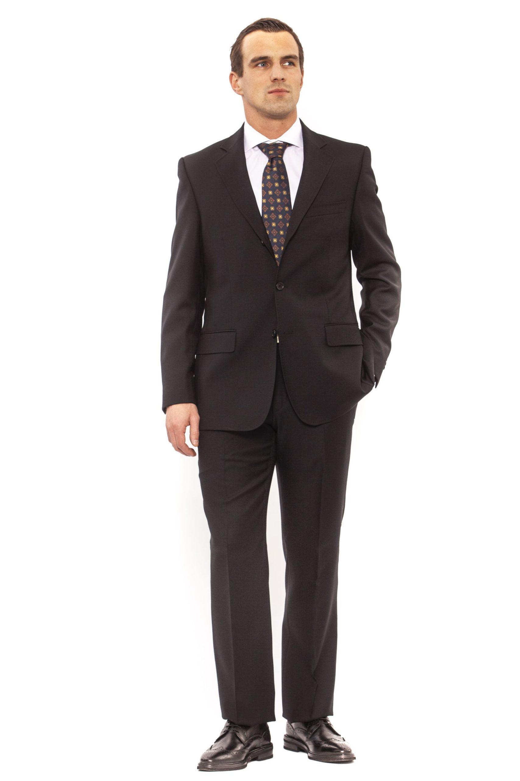 Ferre Men's Clothing Nero Suit Black FE991864 - IT50   L