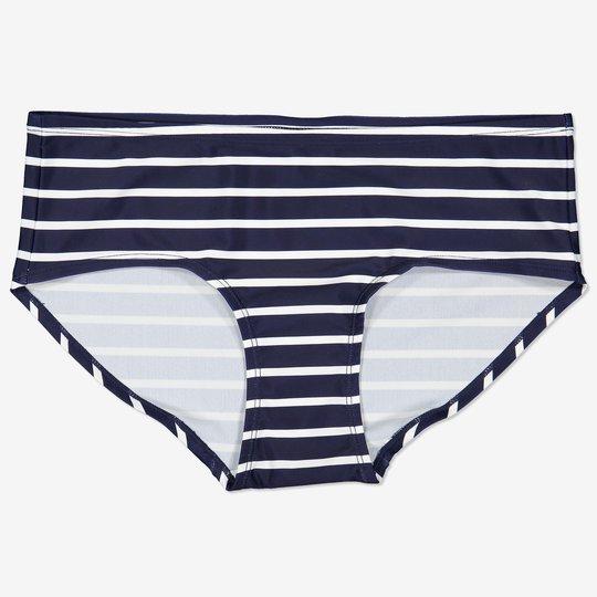 Stripet bikinihipster voksen mørkblå