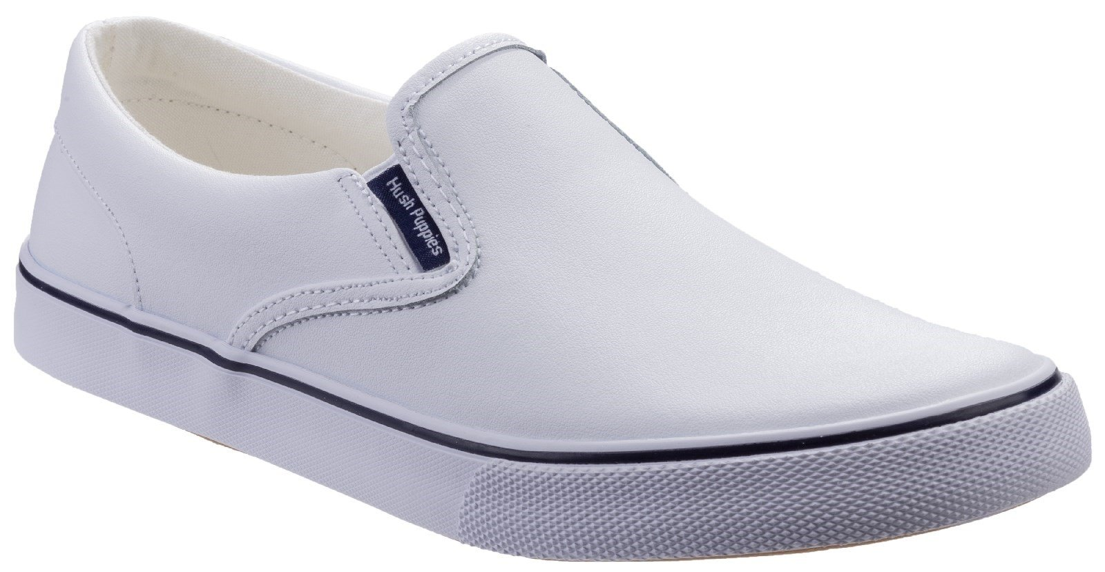 Hush Puppies Women's Byanca Slip On Shoe Various Colours 29716 - White Leather 6