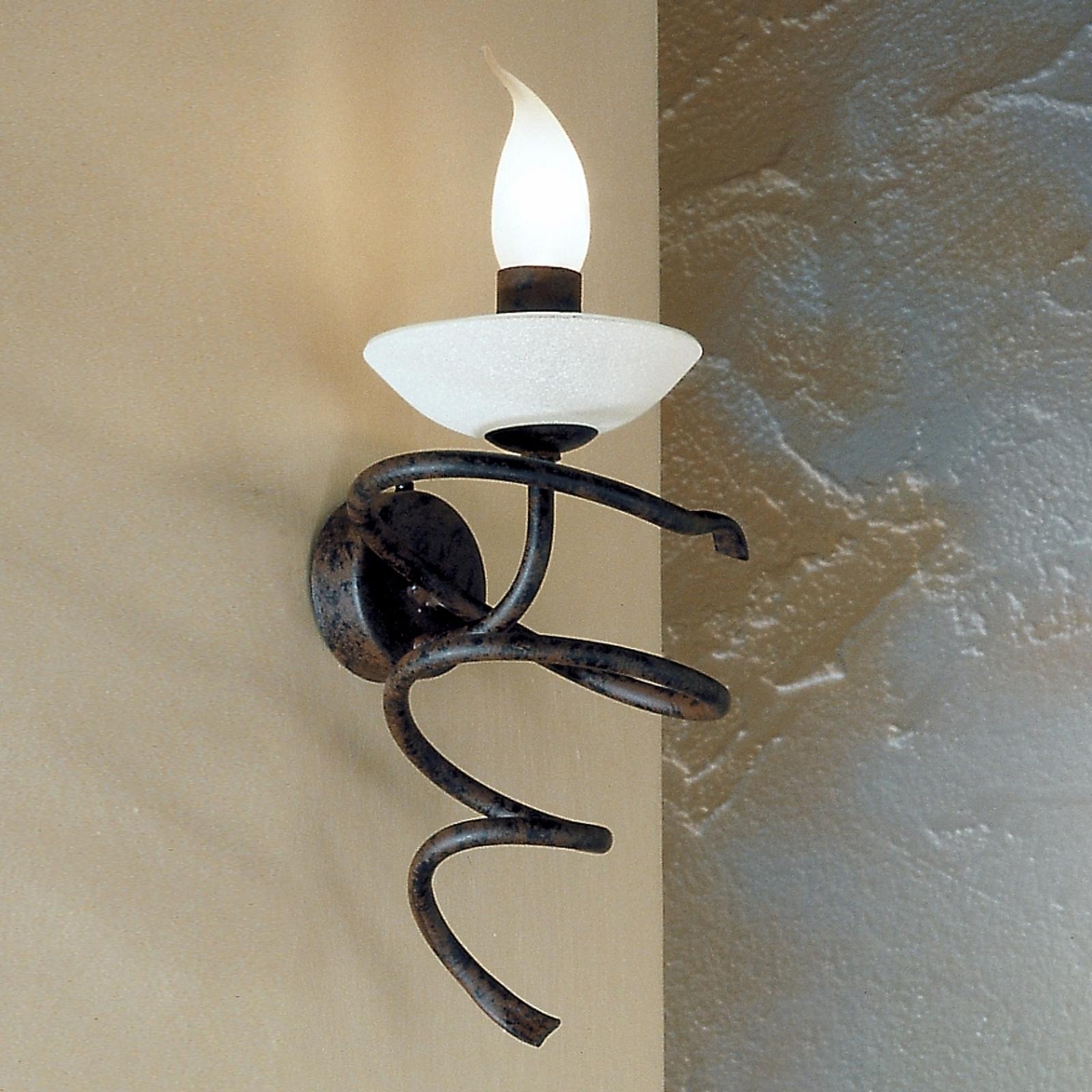 Mauro-seinävalaisin, scavo-lasia, 1-lamppuinen