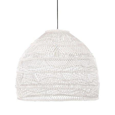 wicker pendant lamp ball white M