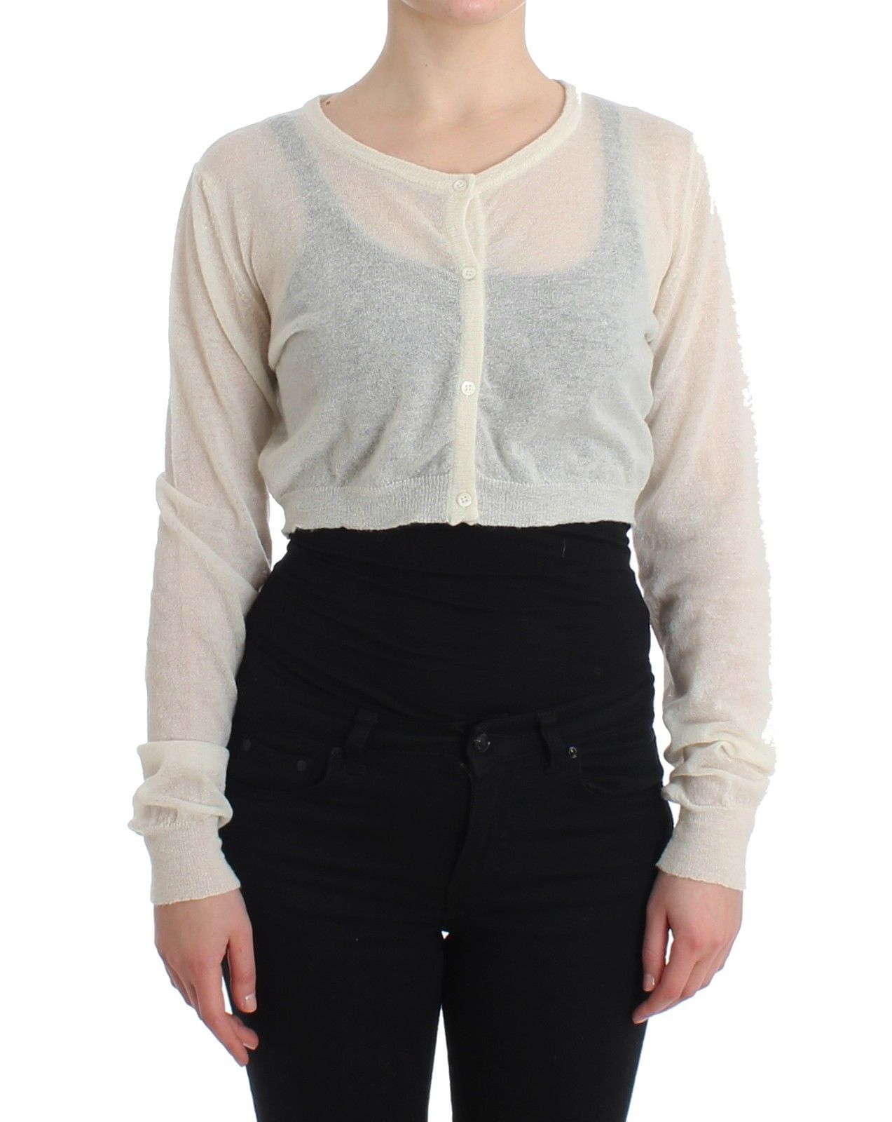 Ermanno Scervino Women's Cardigan White SIG11518 - IT48   XL