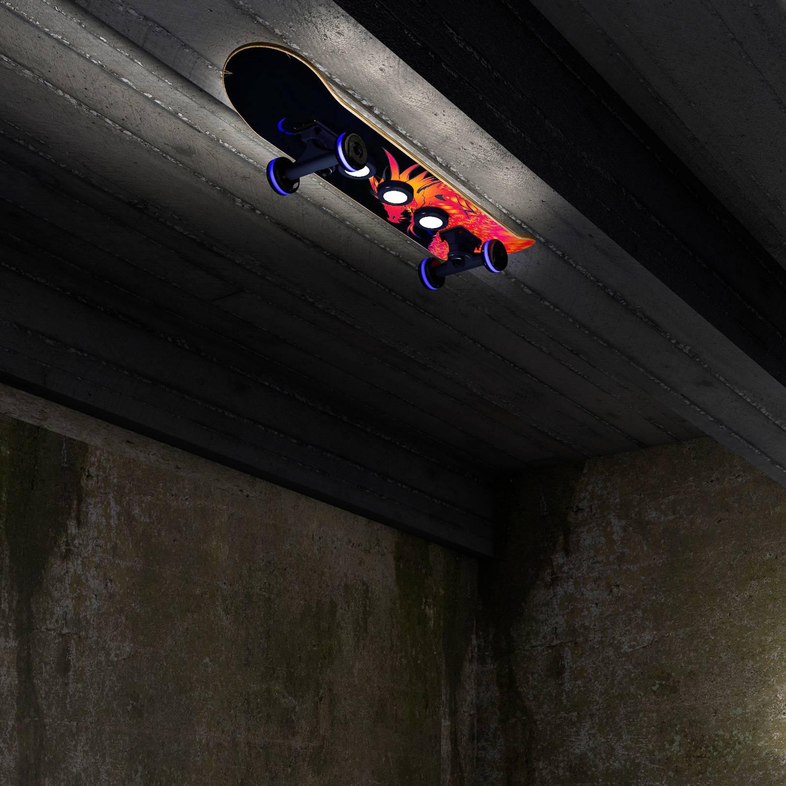 Kattovalaisin Skateboard Easy Cruiser Dragon, RGBW