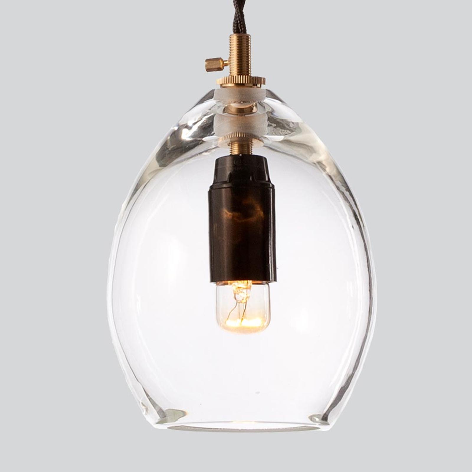 Kirkas design-lasiriippuvalaisin Unika, 10,5 cm