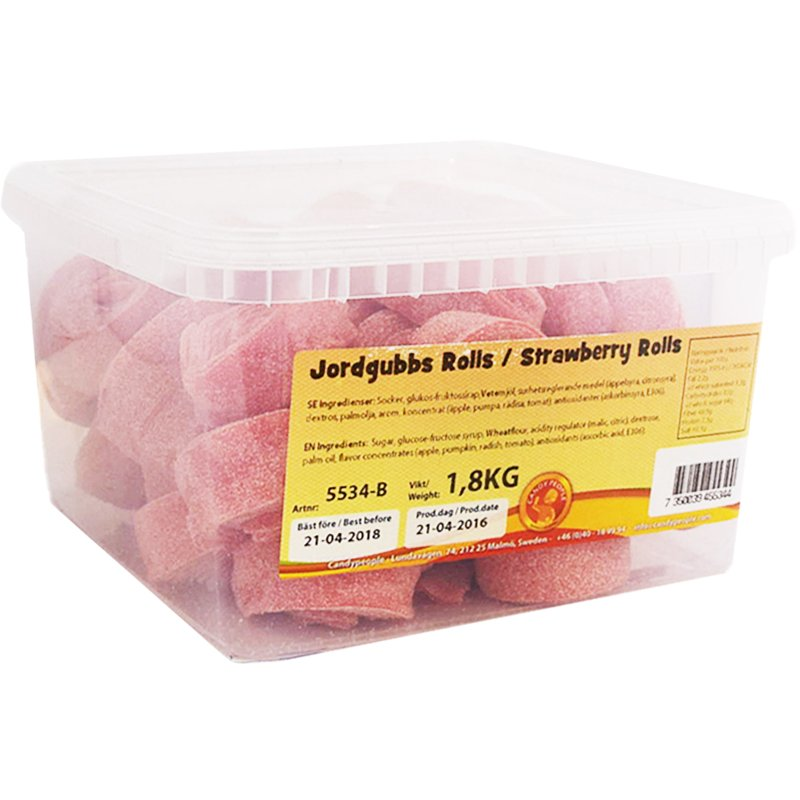 """Kokonainen laatikko: """"Jordgubbs Rolls"""" 1,8kg - 92% alennus"""